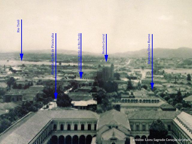 Foto dos anos 1910 mostra um panorama da região (clique na foto para ampliar)