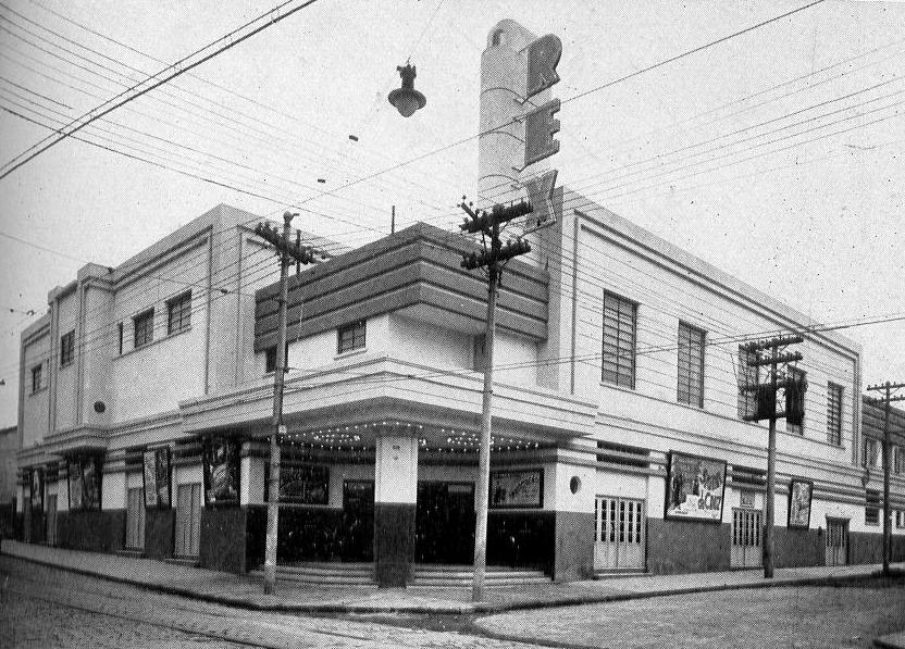 A inauguração do Cine Rex, na Rua Rui Barbosa, em 1940, foi um grande impacto na cidade. Foto: São Paulo Antiga.