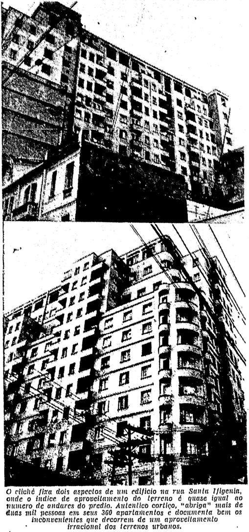 Nesta matéria da FOLHA, em 1956, o prédio já era visto como um problema para a cidade.