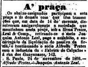 O Estado de S.Paulo (novembro de 1898)