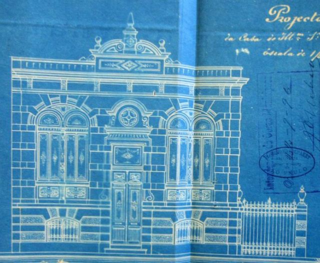 Blueprint da fachada - Projeto do belga Florimond Colpaert