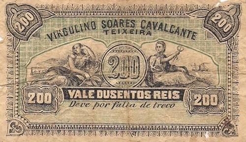 Cédula particular de 200 Reis do início do século 20