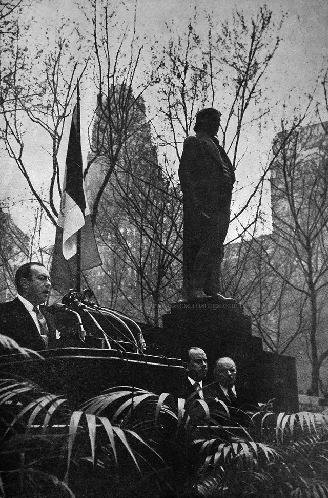 Inauguração da estátua de José Bonifácio em Nova Iorque
