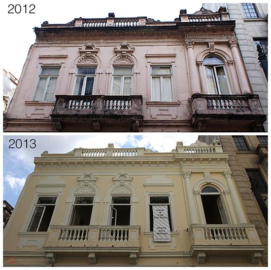 O imóvel em 2012 e 2013 (clique na foto para ampliar).