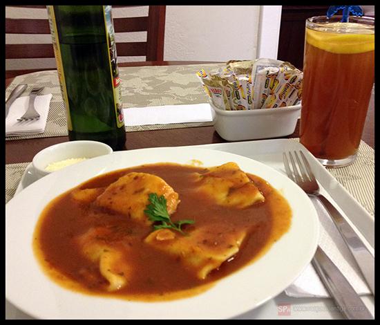 Sofioli de ricota, nozes e passas, um dos pratos da Casa de Almoço.
