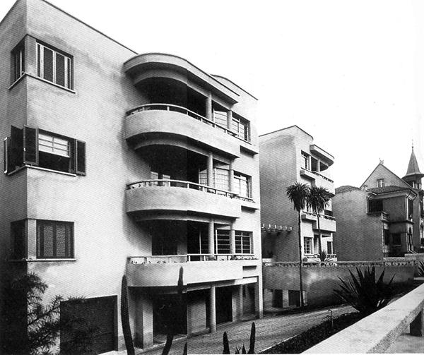 Vista do Edifício Nicolau Schiesser em 1934, a partir da calçada (clique para ampliar).