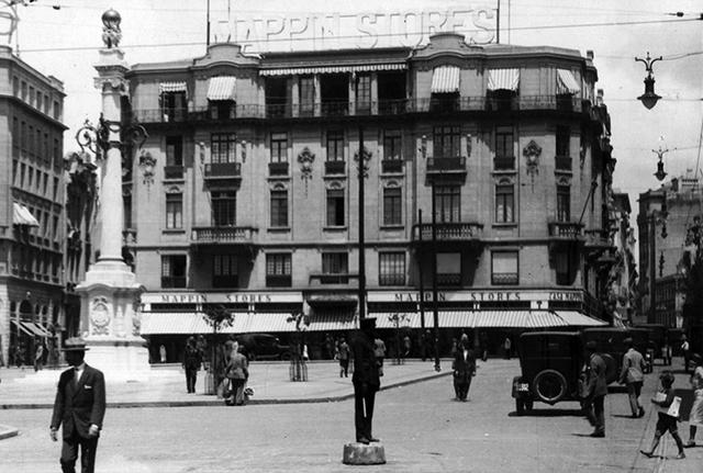 Praça do Patriarca na década de 20 (clique para ampliar).