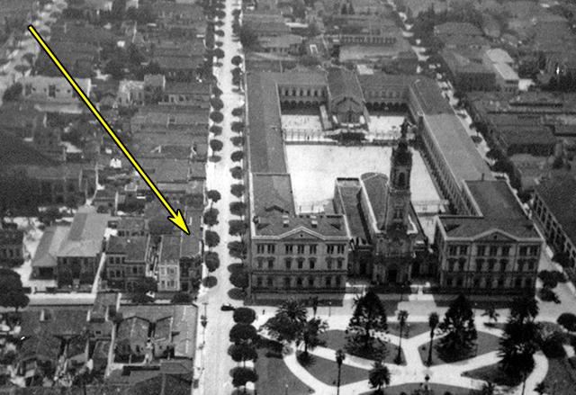 Vista aérea parcial de Campos Elíseos em 1928
