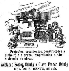 Publicidade do escritório dos irmãos Caiuby