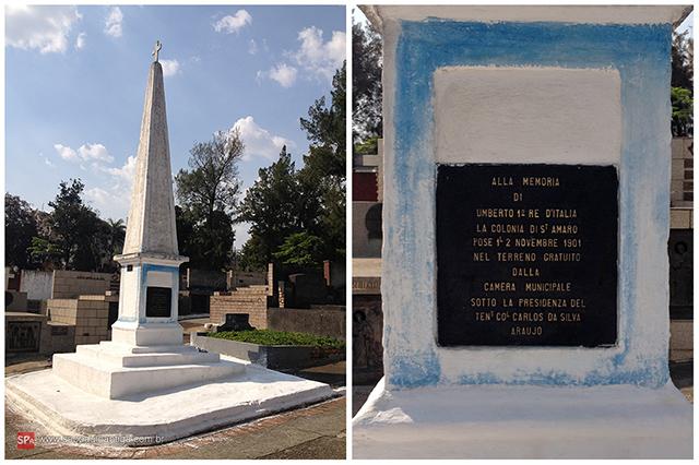 O obelisco de Santo Amaro (clique na foto para ampliar).