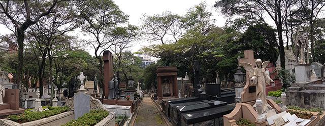 Cemitério da Consolação, na região central de São Paulo