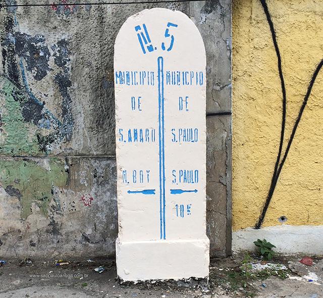 O marco N5 foi recuperado pelo site São Paulo Antiga