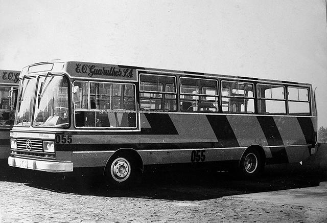 Ônibus da E.O Guarulhos em 1980 (clique na foto para ampliar).