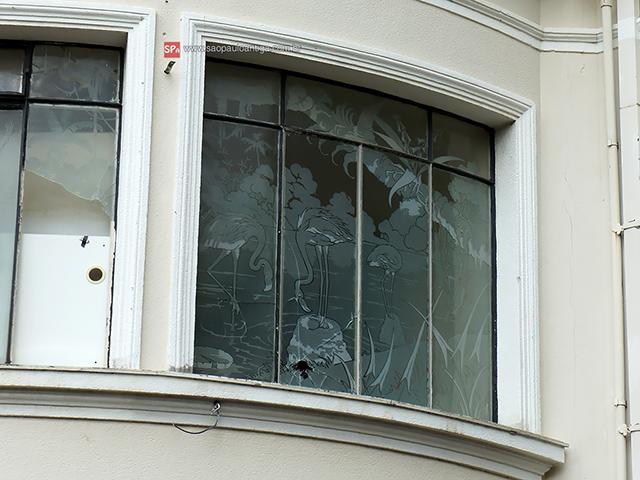 Flamingos na janela (clique na foto para ampliar).