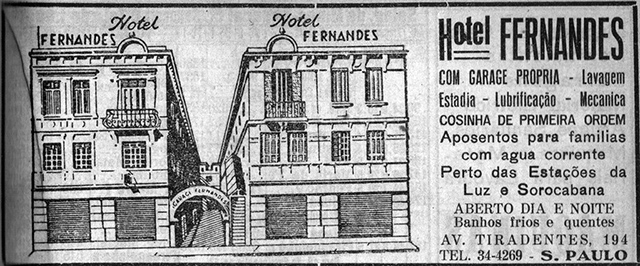 Publicidade do hotel em 1951 (clique para ampliar).