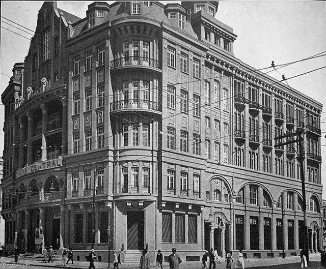 Cine Central fotografado em 1917 (clique na foto para ampliar)
