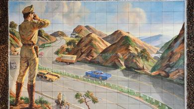 Casa em São Caetano tem belo mural de azulejos