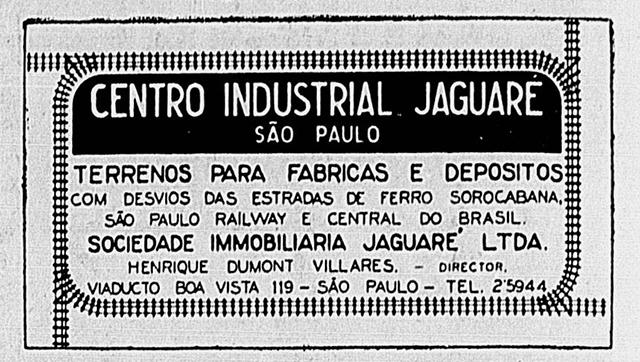 Anúncio publicado no jornal Correio Paulistano em 26/02/1939