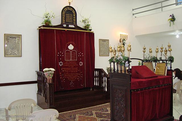 Interior da Sinagoga (clique para ampliar) / Foto: Camilo Zayit Seleguini