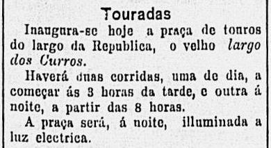 Recorte do jornal Correio Paulistano 19/01/1902