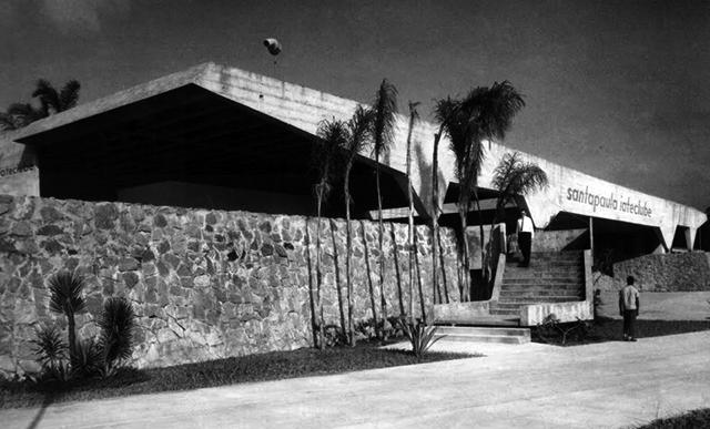 Iate Clube Santapaula - Vista da fachada principal