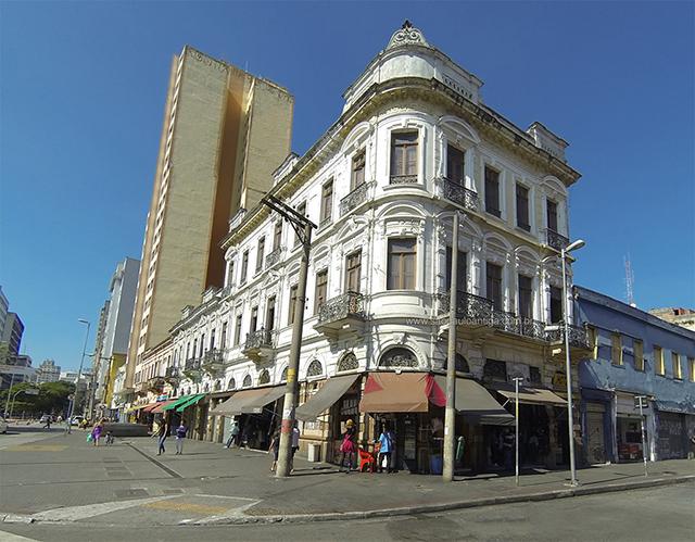 Hotel Rebequino, na rua Mauá com Avenida Casper Líbero (clique para ampliar)