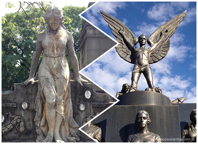 Esquerda: Cemitério do Araçá / Direita: Cemitério São Paulo
