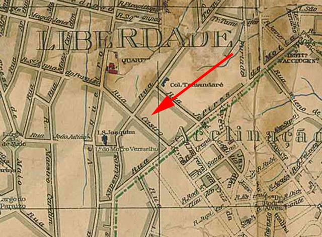 No mapa de 1916, ano seguinte a alteração, a rua Paulista já não constava mais no mapa.