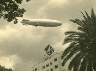 A passagem do dirigível Hindenburg por São Paulo em 1936
