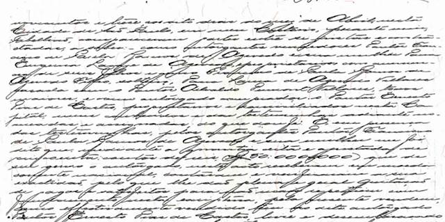 Trecho da escritura de 1913 - Consegue ler o conteúdo ?