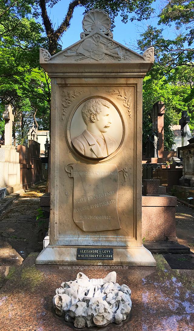 Túmulo de Alexandre Levy, na Consolação
