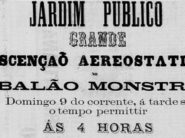 Theodulo Ceballos e seu balão monstro em 1876