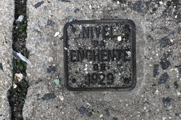 O marco da enchente de 1929