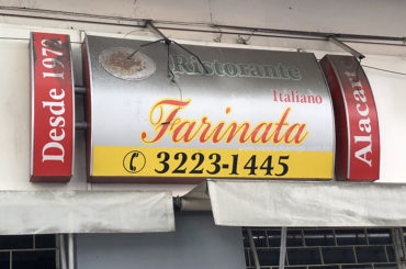 Fechou o ˝La Farinata˝ tradicional restaurante da Avenida Ipiranga