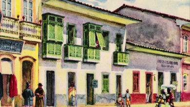 São Paulo Antiga na aquarela de Wasth Rodrigues