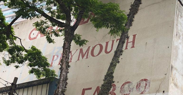 A fachada da concessionária CIPAN – Um achado quase perdido