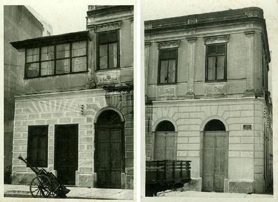 O imóvel em duas fotos antigas sem data e de autor desconhecido (clique para ampliar).