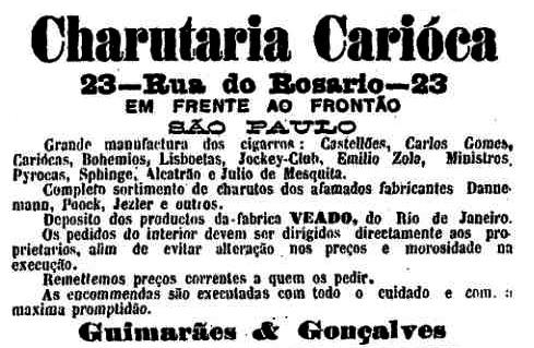 Anúncio de jornal de 24/09/1903