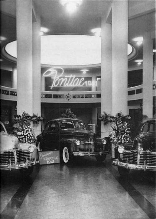 Showroom da Pontiac, na Mesbla, em 1941
