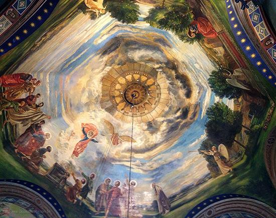 Recuperação da cúpula foi um trabalho primoroso (clique para ampliar).