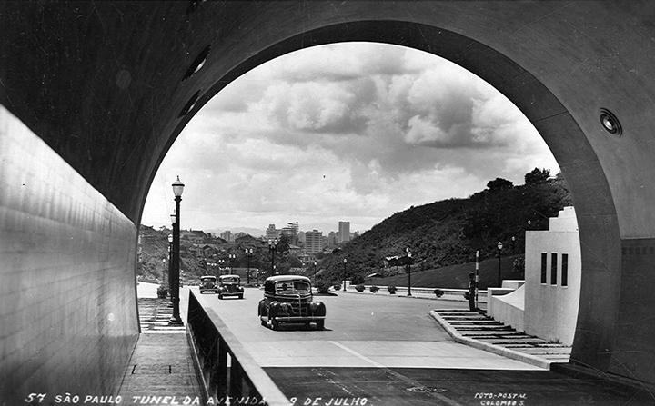 A entrada do túnel em 1946 (clique na foto para ampliar).