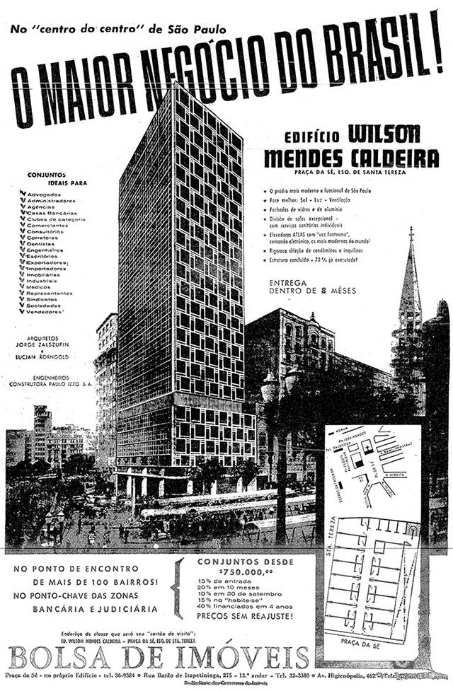 Anúncio do Mendes Caldeira 19/06/1960