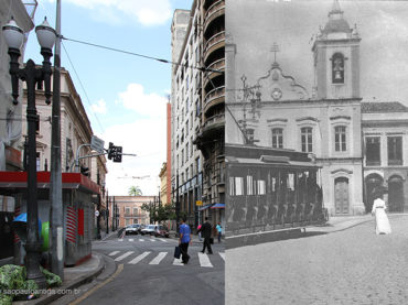 Rua da Fundição – Década de 1900 e 2013