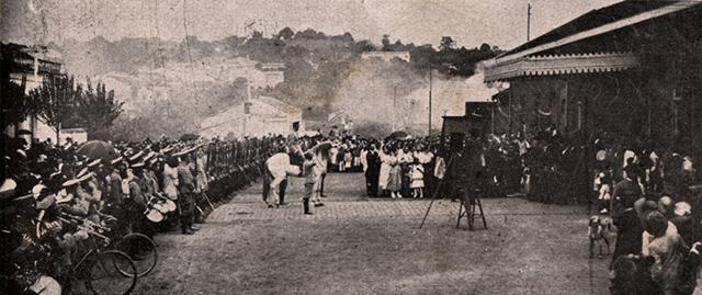 A segunda estação em foto dos anos 1910 (clique na foto para ampliar).