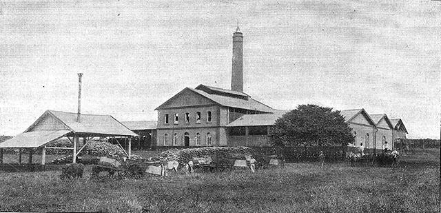 Engenho Central, em Sertãozinho, propriedade de Schmidt (clique para ampliar).