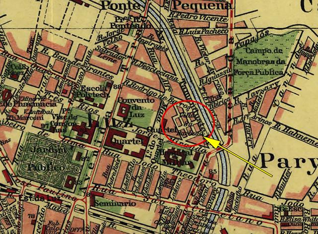 Mapa de São Paulo em 1913 (clique para ampliar).