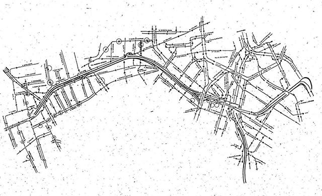 Mapa do elevado com as principais vias próximas (clique para amplia).