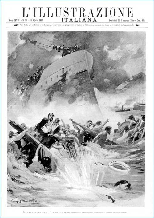 Capa da revista L'Illustrazione Italiana sobre o naufrágio do Sírio