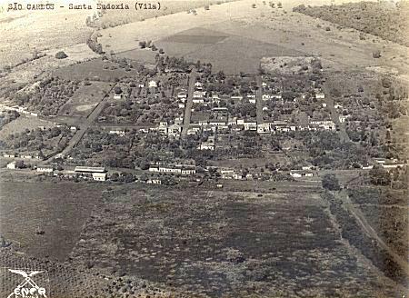 Vista aérea de Santa Eudóxia na década de 30