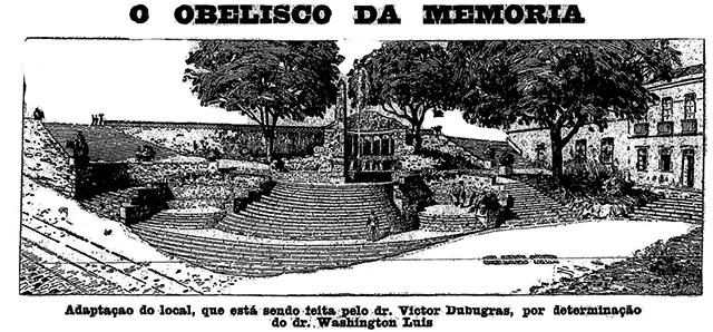 No desenho, o projeto vencedor para o Largo da Memória